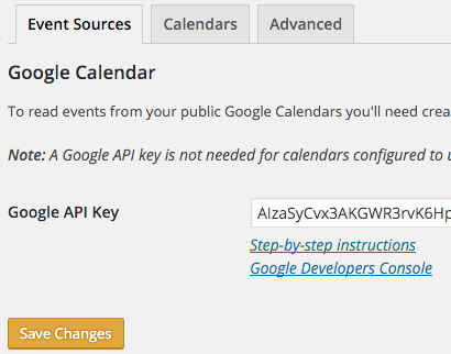 Creating a Google API Key - Simple Calendar Documentation