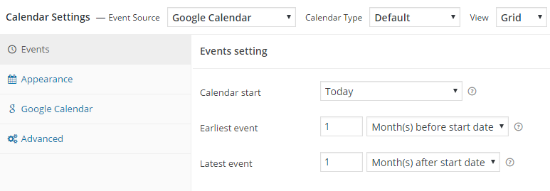 Calendar-Settings-panel