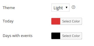 Default Calendar colors
