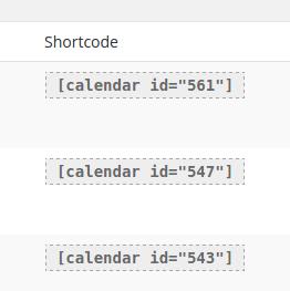 Get your shortcode