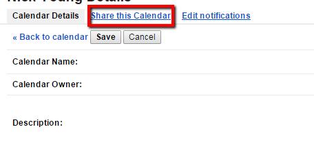 Google - Share this calendar