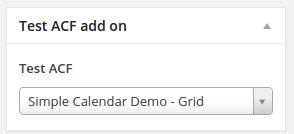 Simple Calendar ACF Field display