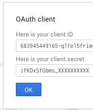 google developers console new client id and client secret